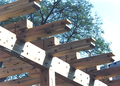 肘木の架構
